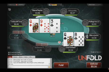"Noul format ""unfold"", experimentat pe PokerStars [VIDEO]"