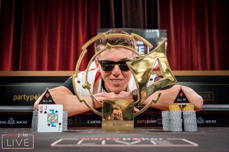El jugador de partypoker Anatoly Filatov gana el Main Event del LIVE Millions Rusia 2018