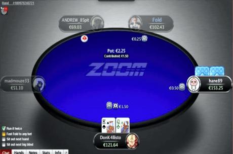 PokerStars testeaza in Italia mese de ZOOM in doar cinci jucatori