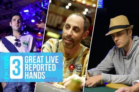 Three Great Live Reported Hands: Books, Barks, and Bubbles