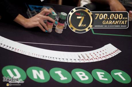 Maine de la 21:00, megasat pe Unibet pentru PokerFest 7 ANI. Programul complet al festivalului