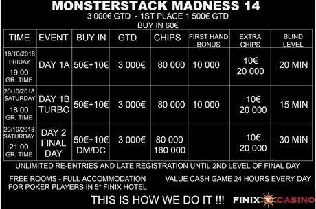Ανακοινώθηκε το Monsterstack Madness #14 στο Finix Casino 19-20...