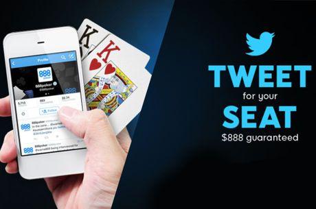 Tweet @888poker e Jogue no Twitter Freeroll do $888 esta Segunda