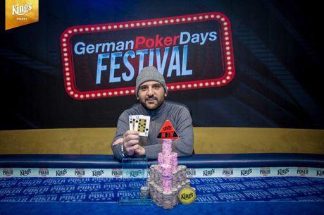 """Ο Έλληνας """"Olorin"""" στην κορυφή του German Poker Days Main Event για €47.681"""