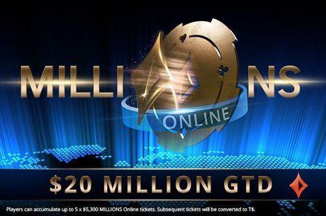 MILLIONS Online Ultrapassou Já os $10 Milhões de Prize Pool Acumulado