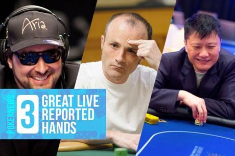 Three Great Live Reported Hands: Hellmuth Blow-up, Big Fold, $1M Bubble