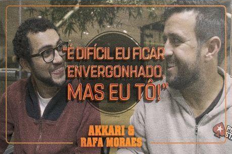 """Akkari e Moraes Sem Filtros: """"É difícil eu ficar envergonhado, mas eu tô!"""""""