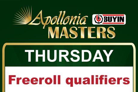 Apollonia: Freeroll με δύο εισιτήρια εγγυημένα για το €330 Masters σήμερα στις 21:00