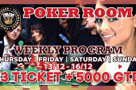 Princess: Τρία εισιτήρια εγγυημένα σήμερα στις 19:00 για το Christmas Poker Festival