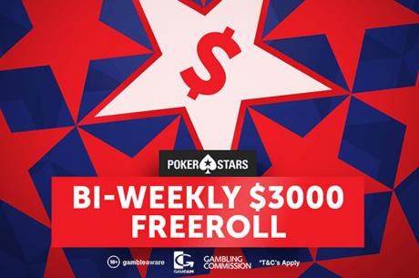 Последен за тази година $3,000 PokerNews фрийрол тази неделя от 22:05 в PokerStars