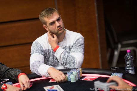 Konstantin Farber als Chipleader beim PokerStars EPT Prague Main Event