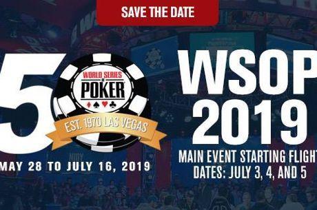 WSOP : Les premières dates de la 50e édition
