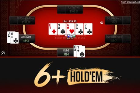 PokerStars Lança Variante de Cash Game 6+ Hold'em