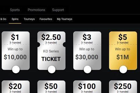 Нови Jackpot Sit&Go турнири с вход $5 и топ награда от $1М в Bwin Poker