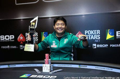 Luis Henrique Kamei Campeão do Main Event do BSOP Iguazu