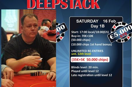 Apollonia: Leader ο Περτσινίδης στη Day 1a του €5.000 Deepstack