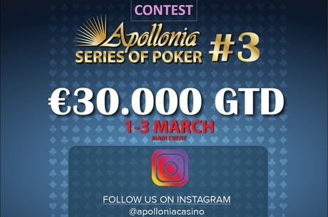 Apollonia: Διαγωνισμός στο Instagram, bad beat jackpot και cash game leaderboard