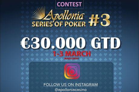 Apollonia: Διαγωνισμός στο Instagram, bad beat jackpot και cash game leaderboard