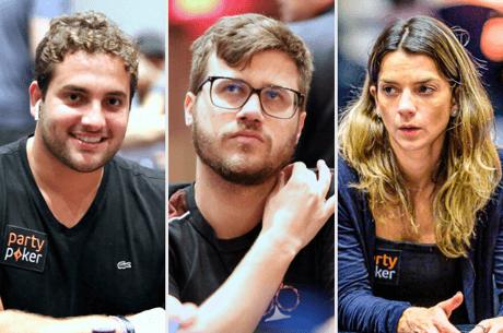 João Simão, Kelvin Kerber e Dayane Kotoviezy no Caribbean Poker Party 2019