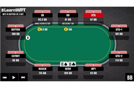 The WPT GTO Trainer has over 1 billion unique solved flops, turns and rivers that are fully playable