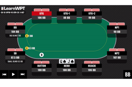 WPT GTO Trainer Hands of the Week: Battling in Late Position