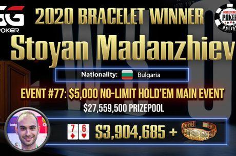 Stoyan Madanzhiev Wins the 2020 GGPoker WSOP Online Main Event ($3,904,686)
