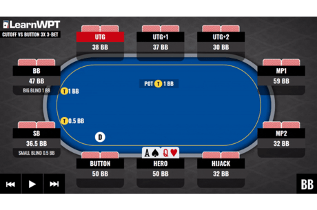 Position is important. Find out just how important in the latest WPT GTO Trainer Hand of the Week!