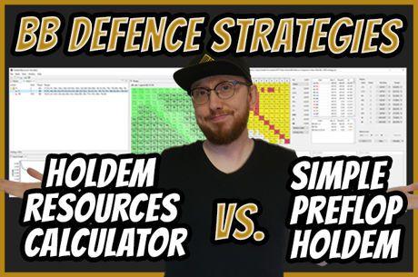 Big Blind Defense - Holdem Resources Calculator vs. Simple Preflop Holdem