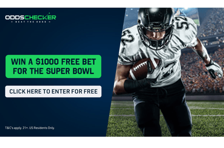 OddsChecker are giving away a massive $1000 Free Bet to use on the 2021 Super Bowl!