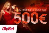 OlyBet pokkeritoaga liitujad saavad €500 boonuse ja kuus freerolli piletit