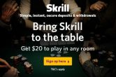 Use This $20 Bonus From Skrill to Win a Ticket to The Freeroll - For FREE!