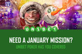 Complete Easy Poker Challenges, Win Prizes at Unibet in January