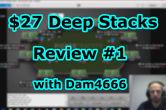 "Greek Grinder και ""Dam4666"" Tour Review: $27 Deep Stacks #1"