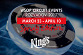 Fourteen WSOP Circuit Rings to be Won at King's Casino