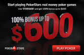 Grab Up to $600 For Free at PokerStars Today
