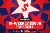 The Next $3,000 PokerStars Freeroll Shuffles up on June 24