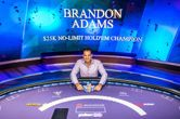 Brandon Adams Wins Poker Masters Event #2: $25K NLH for $400,000