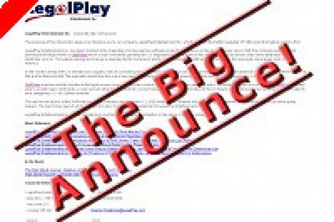 LegalPlay Entertainment Inc. Announces Launch Date For PokerPass.com Card Room, Update On... 0001