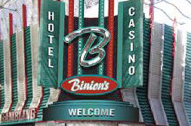 Storslagna pokerturneringar återvänder till Binion 0001
