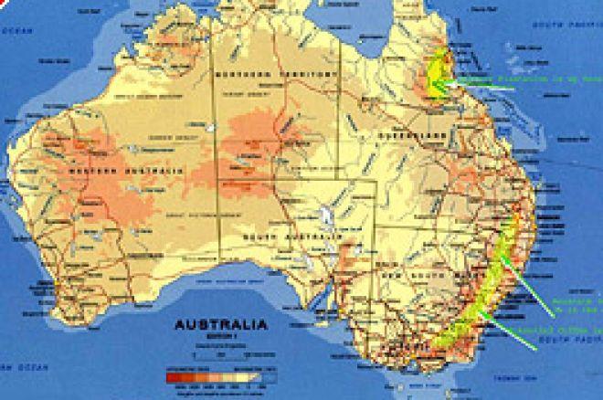 Landkarte Australien