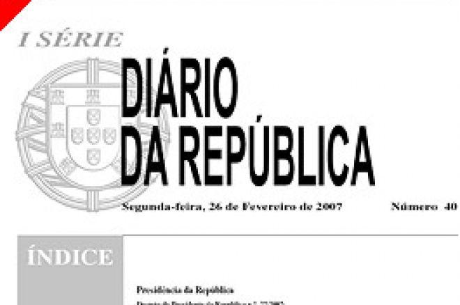 26 Fevereiro dia Histórico para o Poker em Portugal – Legislação de Poker Aprovada 0001