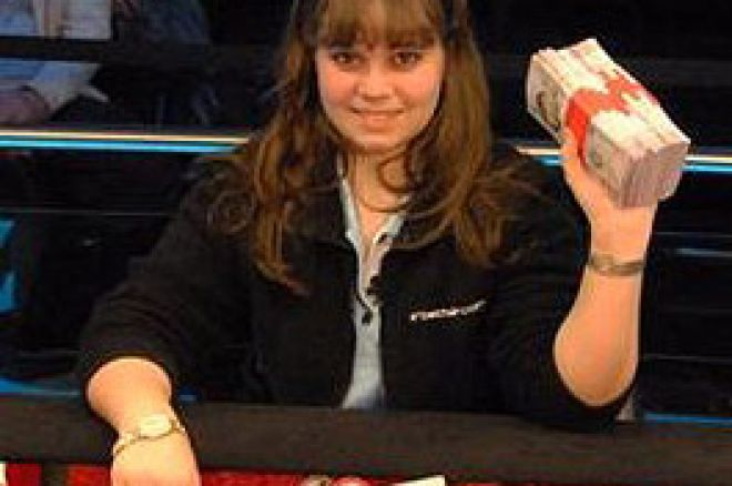 WSOPE, Evento #3 - £10,000 NLHE, Final Table: Annette Obrestad Faz História 0001