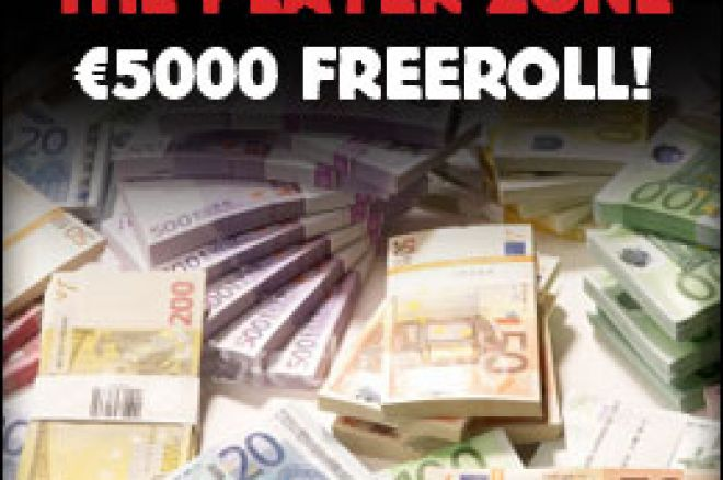 €5000 Freeroll at Poker Heaven's Player Zone 0001