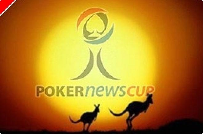 PokerNews Cup: Онлайн Покер Играчи в Действие в Мелбърн 0001