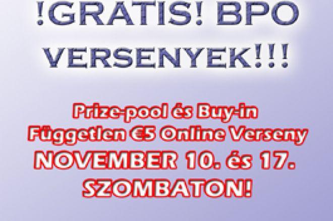Exkluzív !GRATIS! Budapest Poker Open Versenyek! 0001