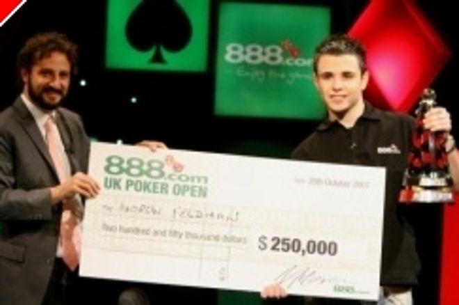 UK PokerNews Exkluzivně: Rozhovor s vítězem 888 Poker Open Andrewem Feldmanem 0001