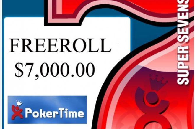 $7,000.00 Freeroll Hoje 17:00 Brasil – 20:00 Portugal - Poker Time 0001