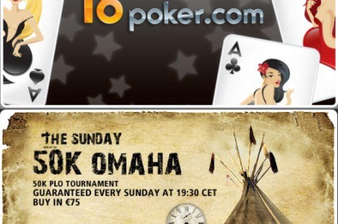 Jogue €50K Garantido PLO Domingo 16 Março GRÁTIS na T6 Poker 0001