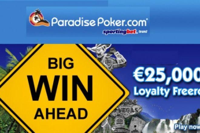 Freeroll €25,000.00 na Paradise Poker 0001