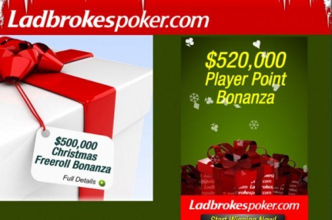 $500,000 em Freerolls no Natal da Ladbrokespoker! 0001